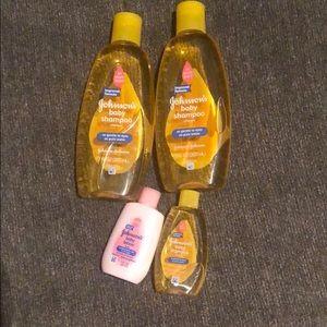 Unused Johnson and Johnson items.